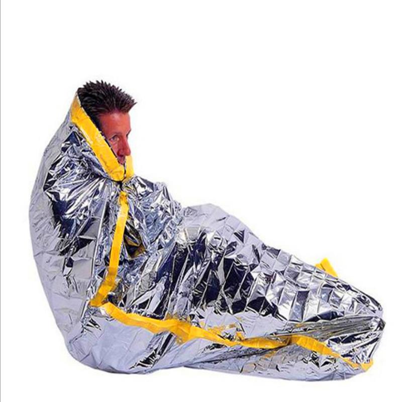 Extra Large De Couchage Couverture Imperméable 210 cm survie en aluminium d/'urgence