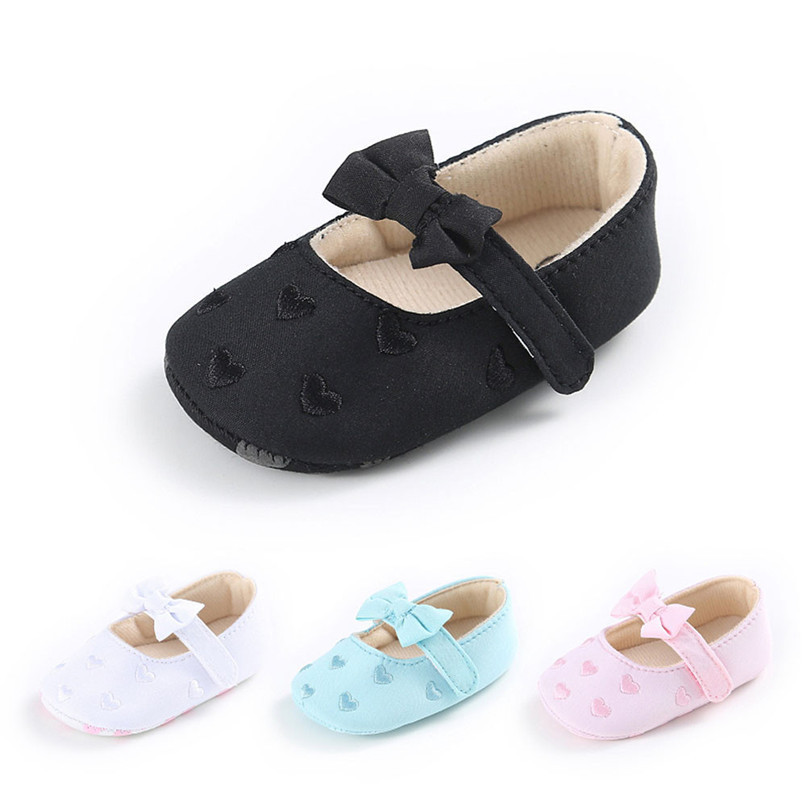 Summer Baby Girls Shoes Toddler Kids Baby Girl Canvas Solid Bow-knot Soft Sole Anti-slip Shoes Baby First Walker Shoes M8Y11 (3)