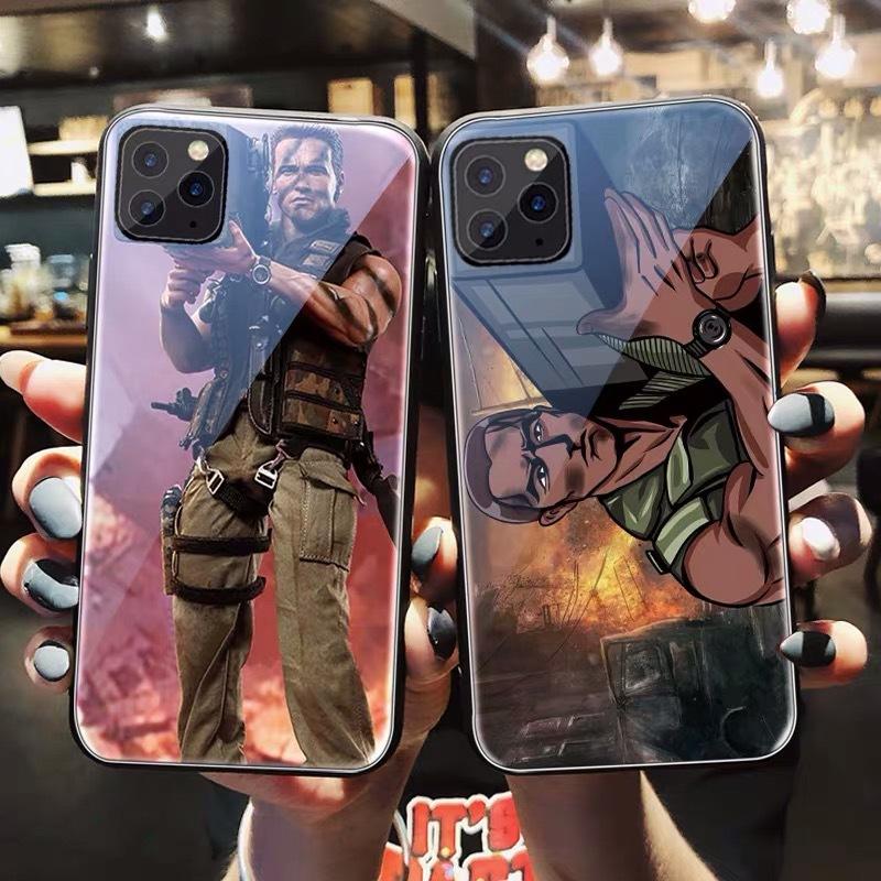 Commando Arnold Schwarzenegger teléfono caso se adapta iPhone 4 5 5s se 6 6s 7