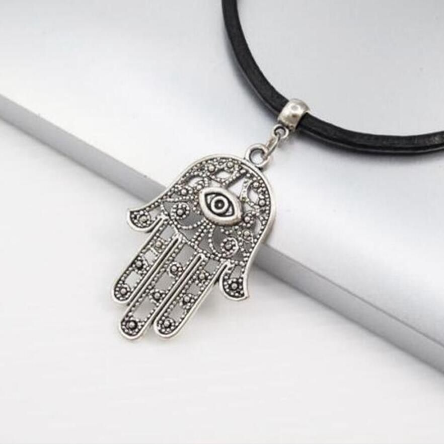 Damas acero inoxidable pulsera Hamsa mano de la cadena de la serpiente de Fatima Autiga®