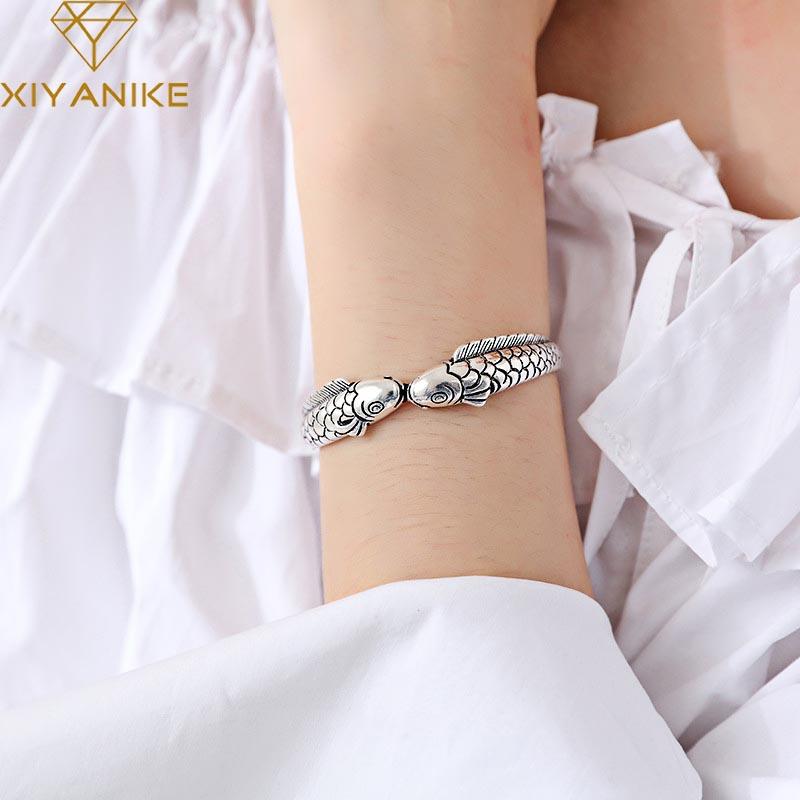 Bamoer Rétro S925 Sterling Silver Charm émail poissons tropicaux /& Zircone Cubique Fit Bracelet