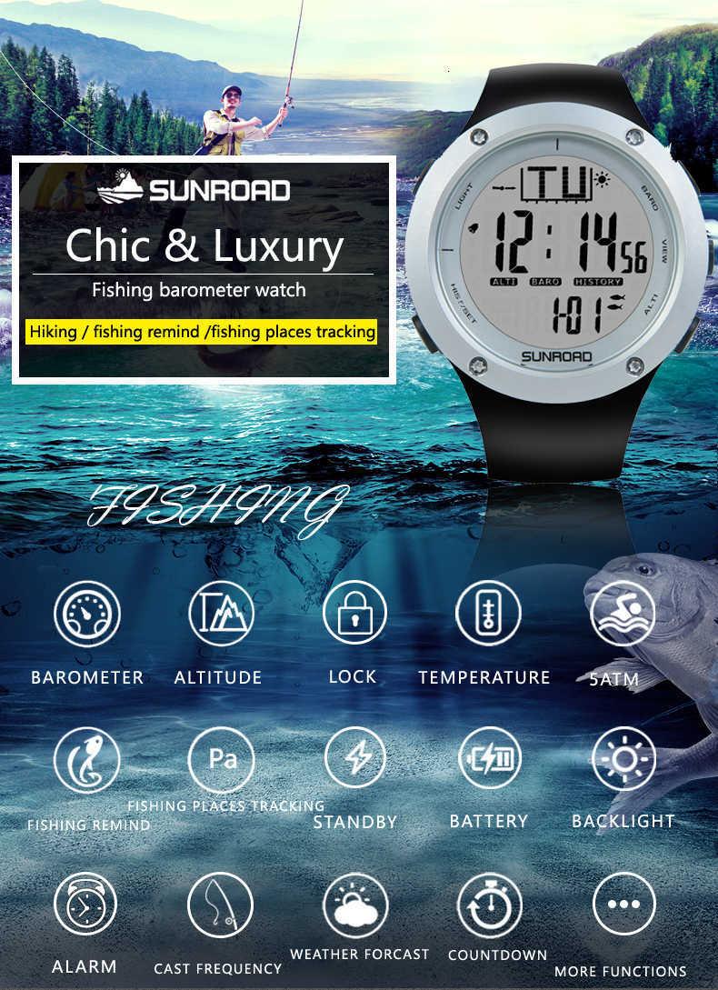 Sunroad FR722 fishing sports watch single description photo EN 01