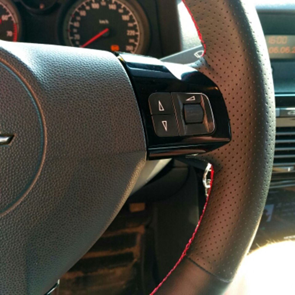 NATURAL LEATHER STEERING WHEEL COVER FOR OPEL VECTRA C SIGNUM