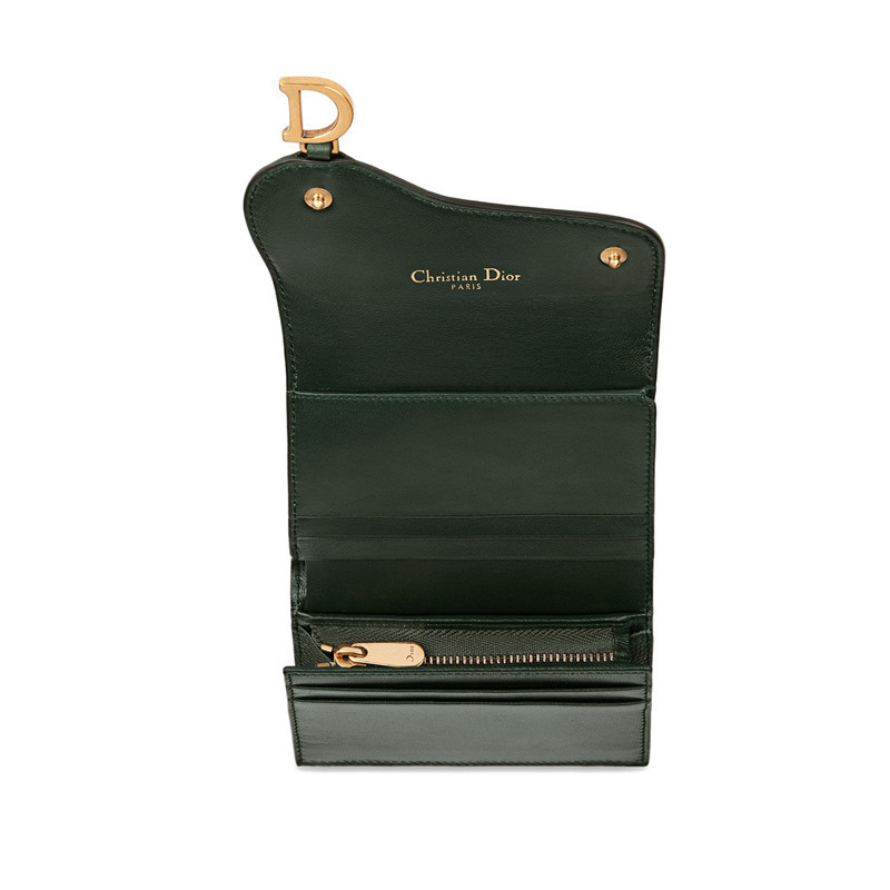 [Package tax]  /  19 spring and summer ladies new gold D leather saddle wallet (3 colors optional) S5621CWVG_M50H