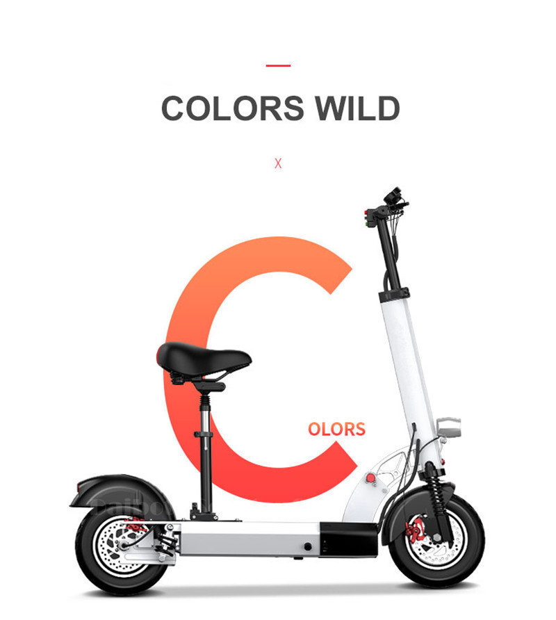 Daibot Folding Electric Bike 48V Two Wheel Electric Scooters 10 inch Motor 500W Portable With Seat Electric Scooters Adults (29)