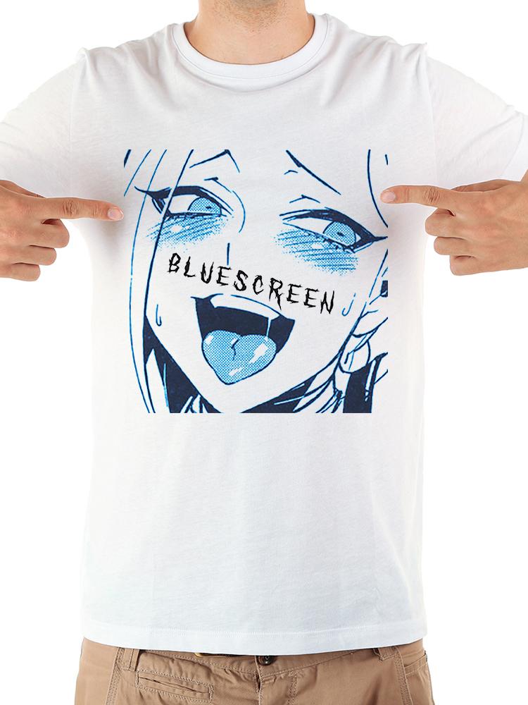 Japan anime Ahegao funny tshirt men jollypeach brand 2019 summer new white short sleeve casual homme Manga t shirt