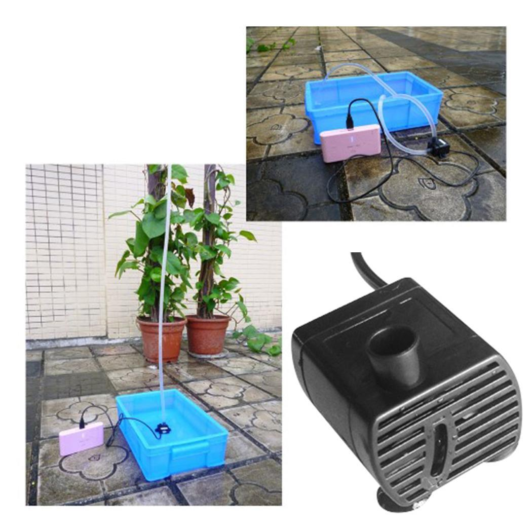 New Fashion DC 5V USB Micro Submersible Water Pump for Aquarium Fountain Pond Fashion New USB Submersible Water Pump