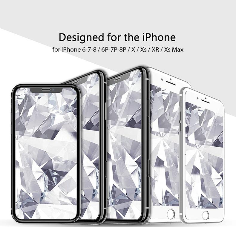KINGXBAR for iPhone Xs Max Glass Full Protection for iPhone Xs Tempered Glass Screen Protector for iPhone Xs Max Protector Film (2)
