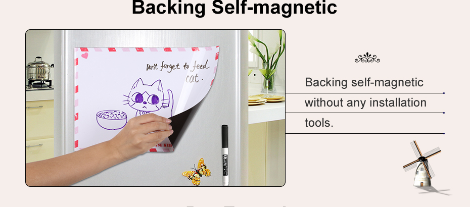 03 A4 Fridge Magnet Removable Erase Drawing Writing Planner Magnetic Board Fridge Message Board Magnets To Do List Memo Pad Notes