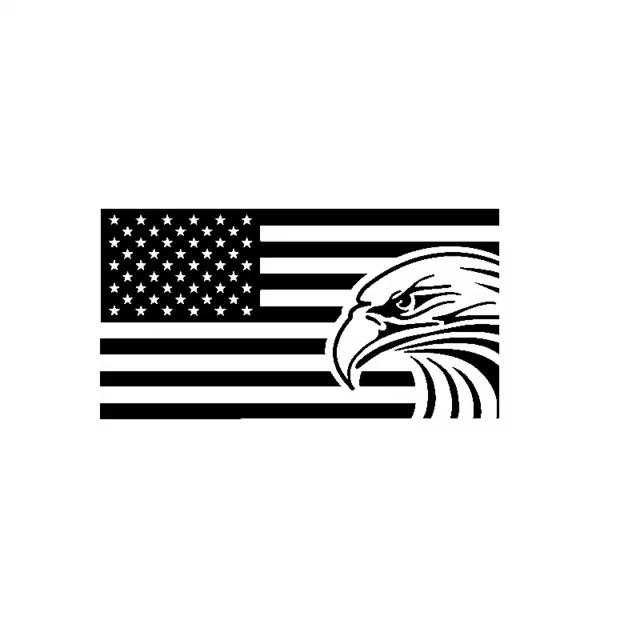 2PCS American USA Flag Blue Strap Car Sticker Paper Decoration 6.5*11.5cm New