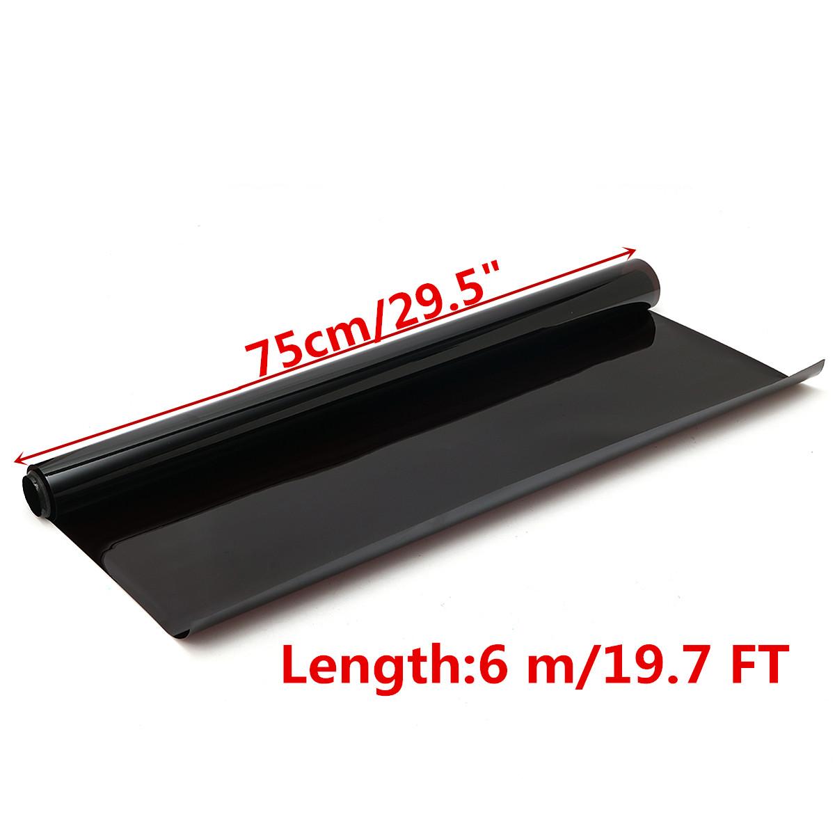 6M*75CM Dark Black Car Window Tint Film Glass VLT 5% Roll 1 PLY Car Auto House Commercial Solar Protection Summer