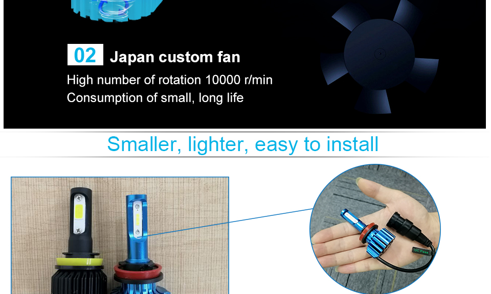 car headlight LED car lamp car head bulb (10)