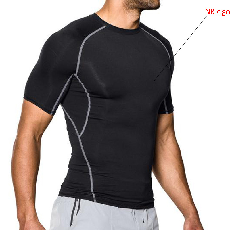 NEW 2019 autumn winter sport skinny tights long sleeve stretch GYM jogging Running basketball football training tights t shirts men