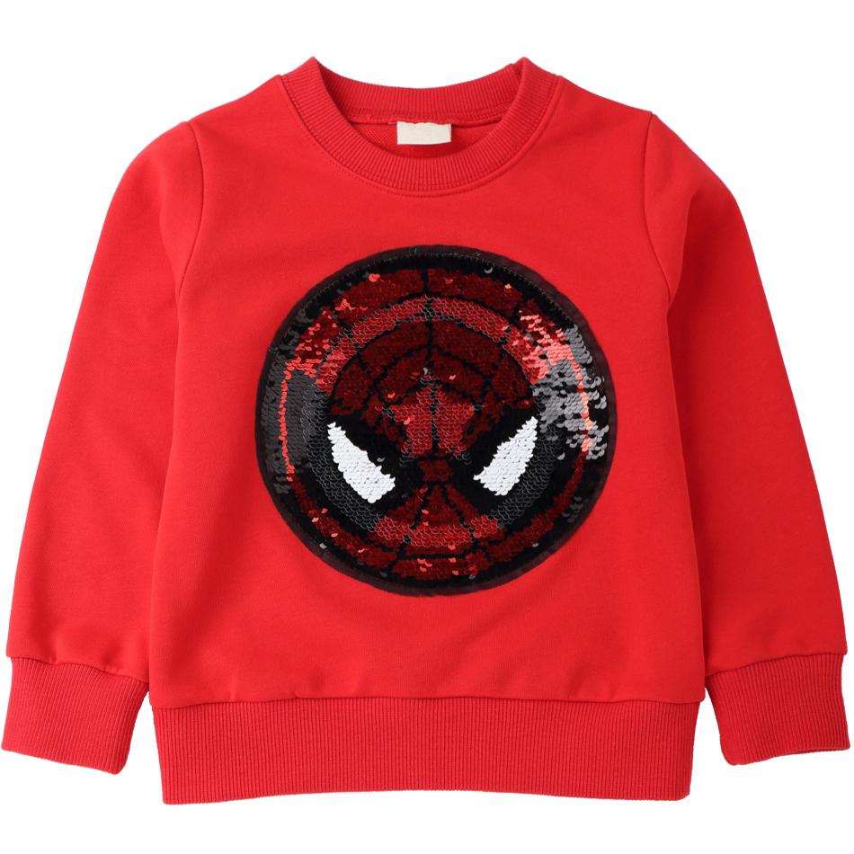 Bambini Ragazzo SPIDERMAN Felpa T-shirt superhero tshirt manica lunga pullover de