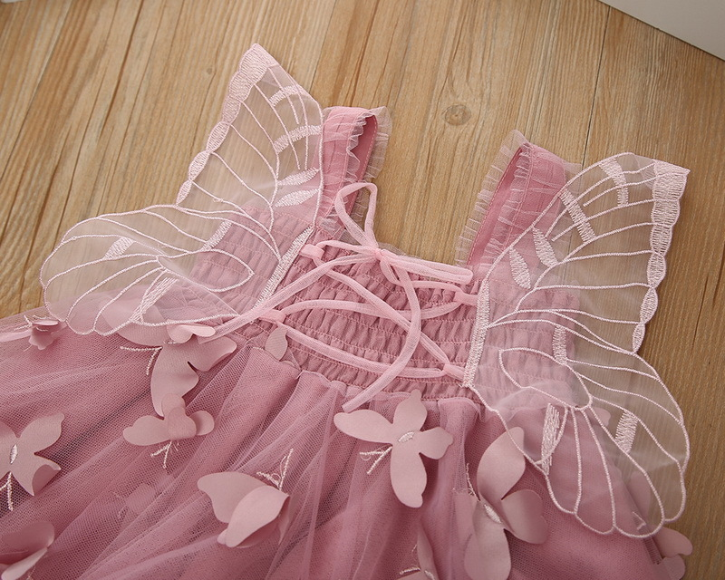 1-3-Butterfly Girl Dress