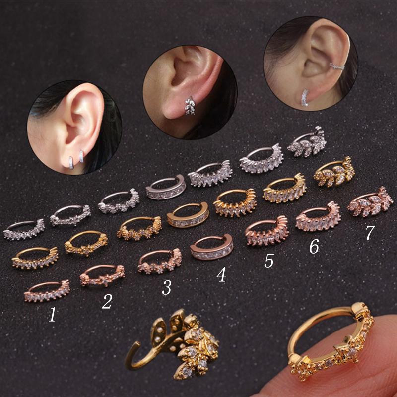 1,0mm plata tabique anillo para doblar narices piercing anillo ornament borde Easy On