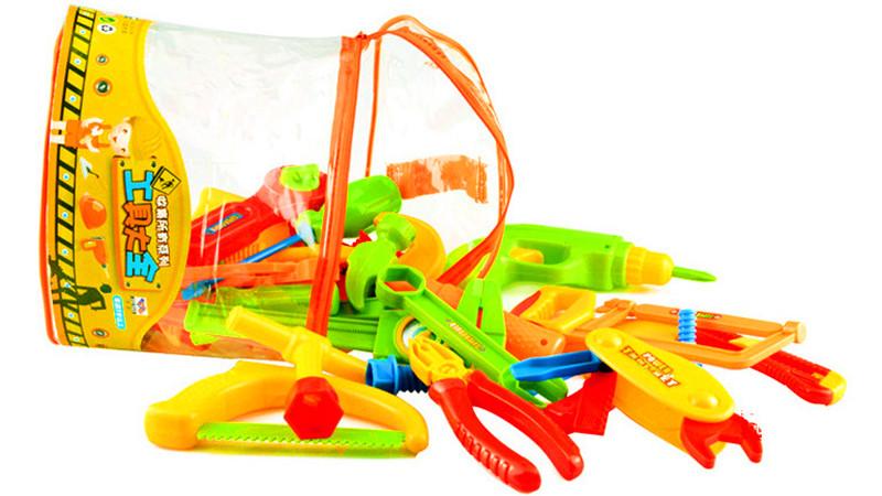 Pretend Tools Toys Plastic Repair Set Boys Baby Kids Craftsman Learn Play Plastic Maintenance Tool Pliers Wrench Tools