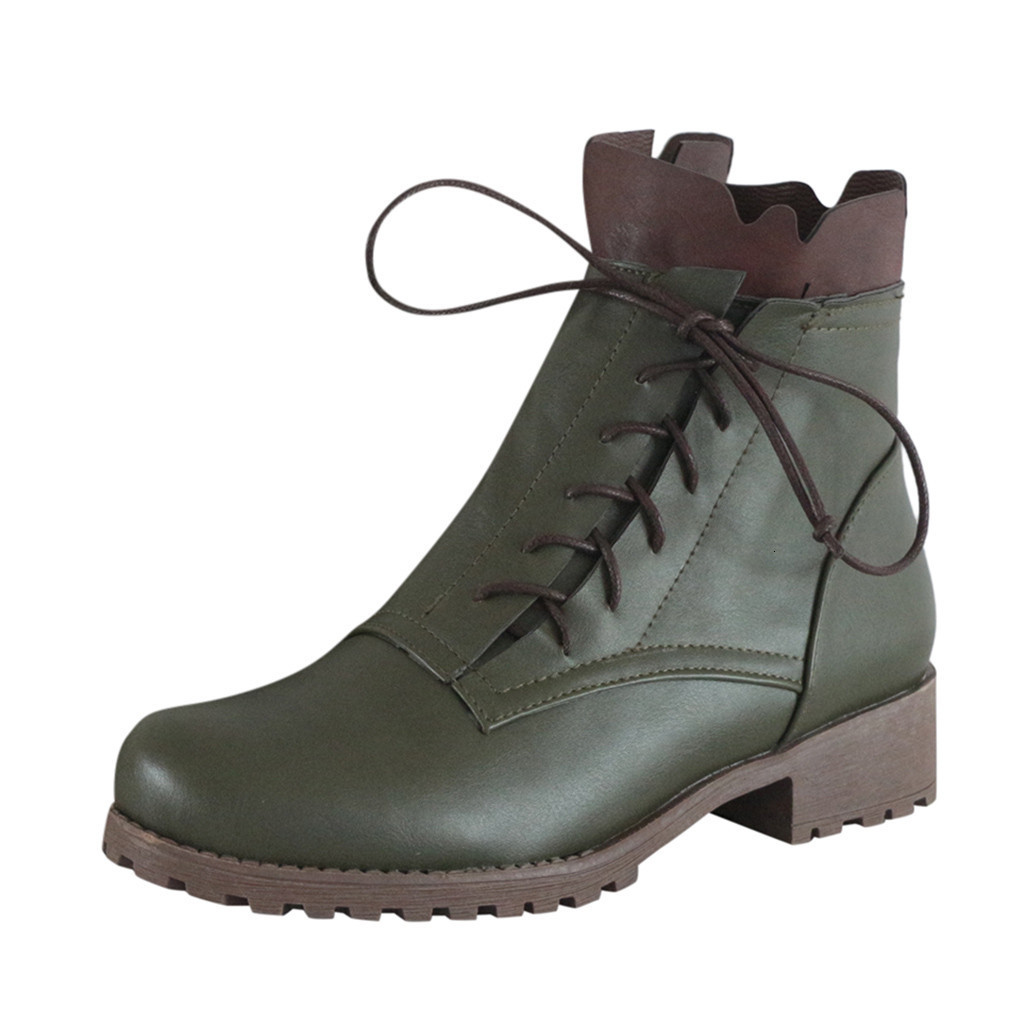 Autumn Women Boots Nice Vintage Leather Ankle Short Casual Botas Non Slip Western Boots Cowboy Boots Motorcycle Pour Women Wedge Shoes Boots Online