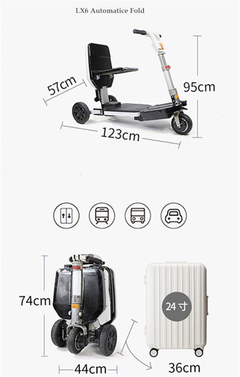 Disability Electric Scooter 3 Wheel Electric Scooter For Elderly Disabled Folding Electric Wheelchair (23)