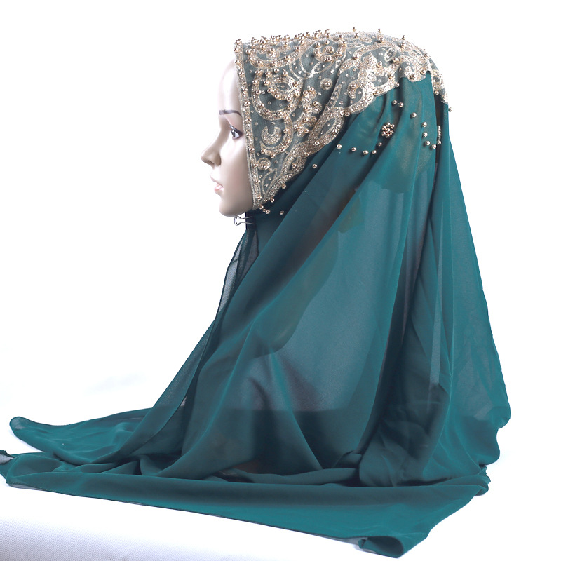 Femmes musulmanes Crinkle foulard Chaîne arabe Long Écharpe Hijab islmiac Châles Bandeau