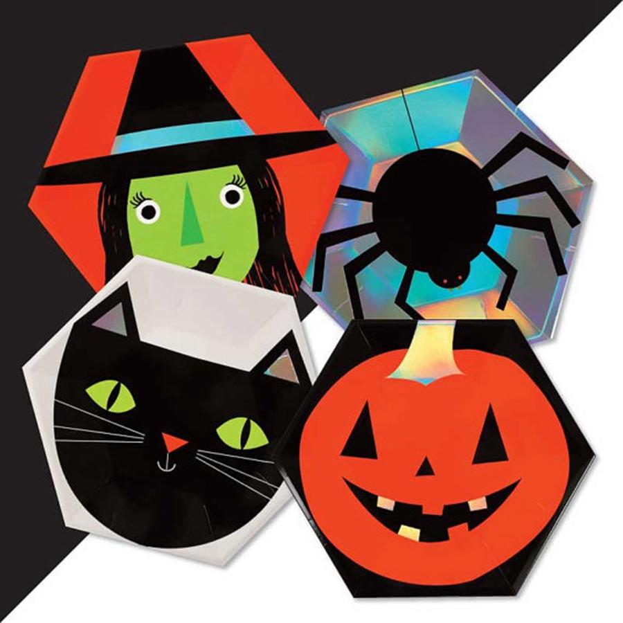 Childrens Calabaza de Halloween Fiesta Vajilla Perfecto Placas Taza Servilleta Mantel