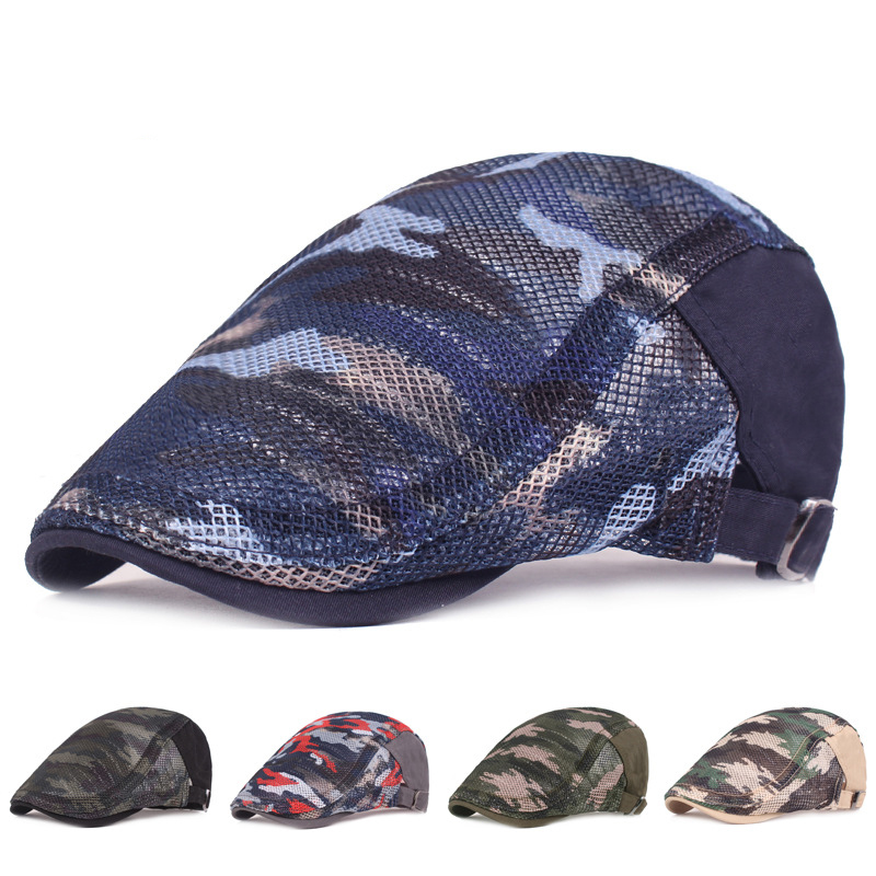 Fashion Duckbill Flat Caps for Women Printed Spring Summer Cabbie Ivy Caps Wholesale Korea Style Men Beret Caps