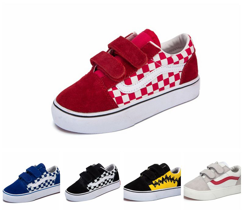 Children/'s Sneakers Kids Canvas Shoes Low Top and High Top Shoes
