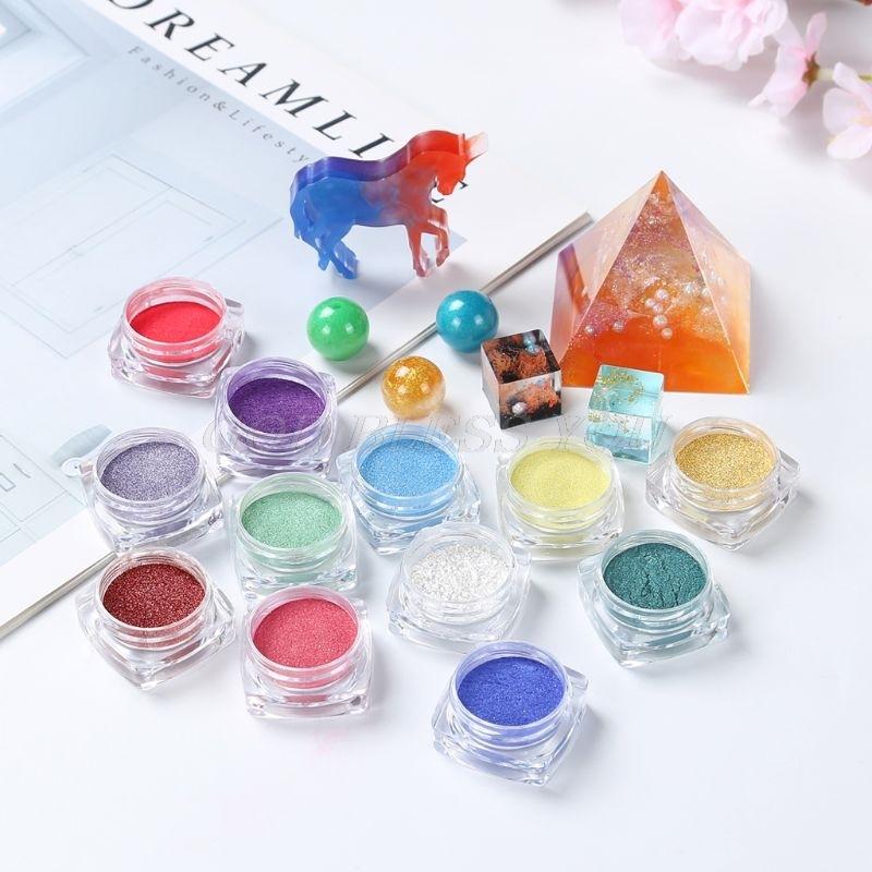Pigmento en polvo 50g Nacarado Polvo Esmalte De Uñas Colorante Jabón hágalo usted mismo Manualidades Resina Mica