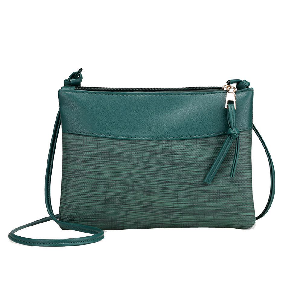 1women Solid Retro Vintage Small Body Shoulder Messenger Green Handbag For Luxury Bag Bolsa Feminina Sac A Main