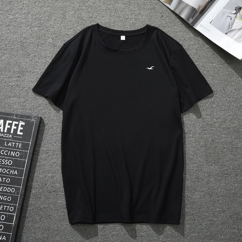 PromotionMen's casual sports 2019 new classic loose breathable sweat organic cotton round neck men t shirt Low price