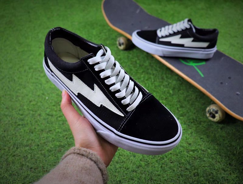 Hot REVENGE x STORM Mens Canvas Shoes Skateboarding Shoes Old Skool Kanye Low fashion womens Casual Shoes eur 36-44