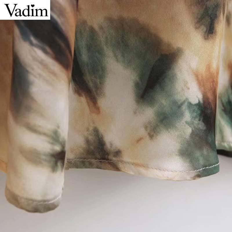 Vadim mujeres elegante impresión halter sin espalda tobillo longitud vestido correas ajustables Sexy mujer Vintage una línea vestidos largos Qb669 MX190725