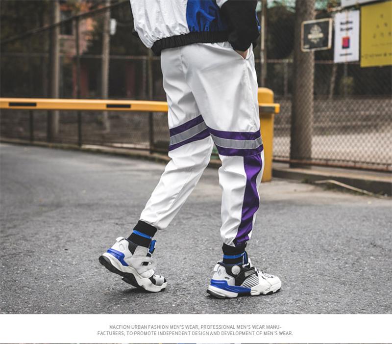 Loose Hip Hop Cargo Pants Men Camouflage Patchwork Harem Mens Trousers Streetwear (58)