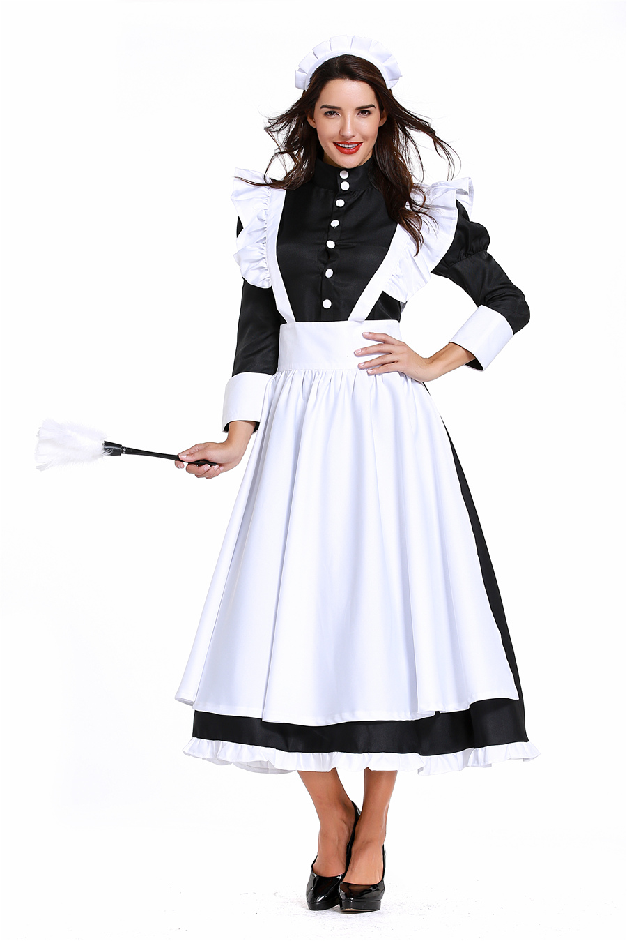 Ama De Casa Vestidito Porno vestido de sirvienta negro uniforme online   vestido de