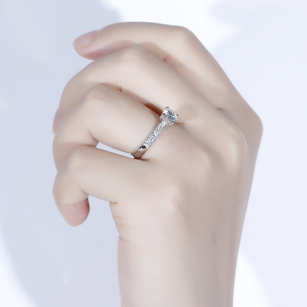 solitaire engagement ring moissanite ring (5)