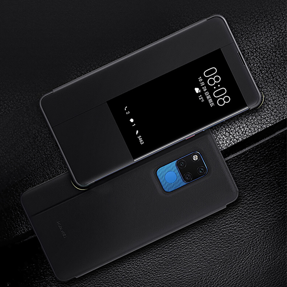 12Huawei Mate 20 Pro Flip Case Cover Official Huawei Mate 20 case Smart View Window PU Leather Luxury Protective Wake up mate20