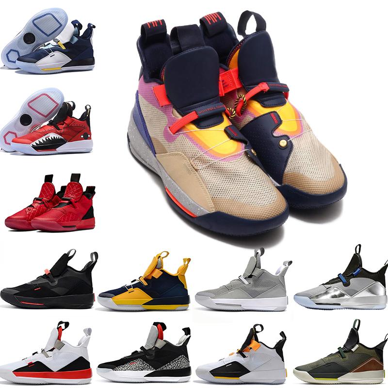 nike air jordan jumpman Top Qualité Jumpman XXXIII 33 Chaussures De Basket ball Hommes 33s Gold Championship MVP Finales Formation Sneakers Sport