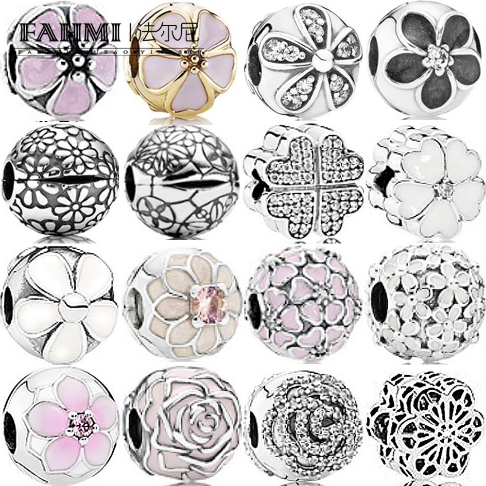 CC-JJ 925 Sterling Silver Dazzling Daisies Charm Beads