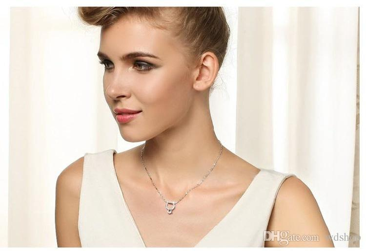 Cute Women Silver Plated Tiny Cat Pendant Choker Necklace With 17.7