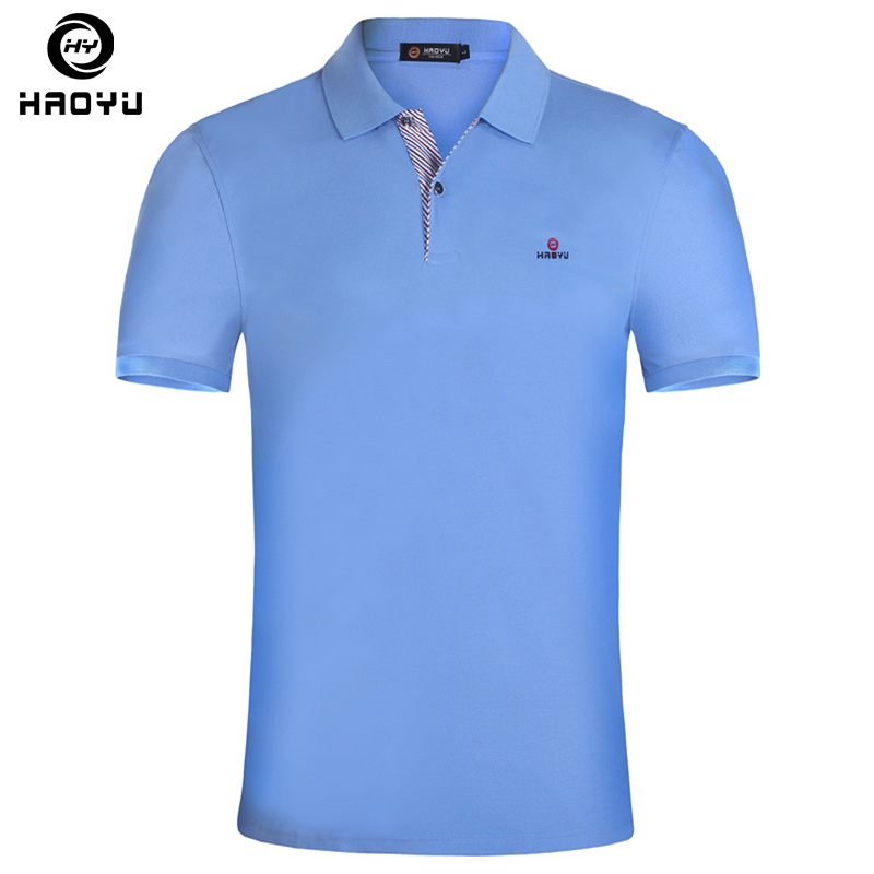 Mens Shirt Brands Slim Fit Casual Solid Polo Shirts Brand Clothing Short Sleeve Fashion Haoyu Poloshirt Summer Xxl C19041501