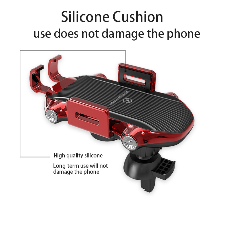 Fast Shipping 10w Wireless Charger 360 Degree Rotation Air Vent Touch Sensing Automatic Clamping Car Phone Holder For Iphone Lowestlow price