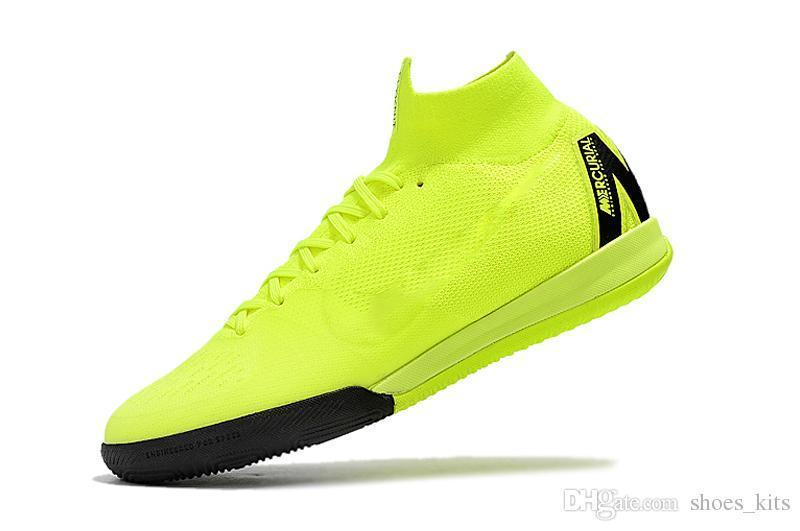 The Most Durable 100% Original Soccer Cleats Mercurial SuperflyX 6 Elite IC Indoor Soccer Shoes Neymar Jr High Ankle Football Boots