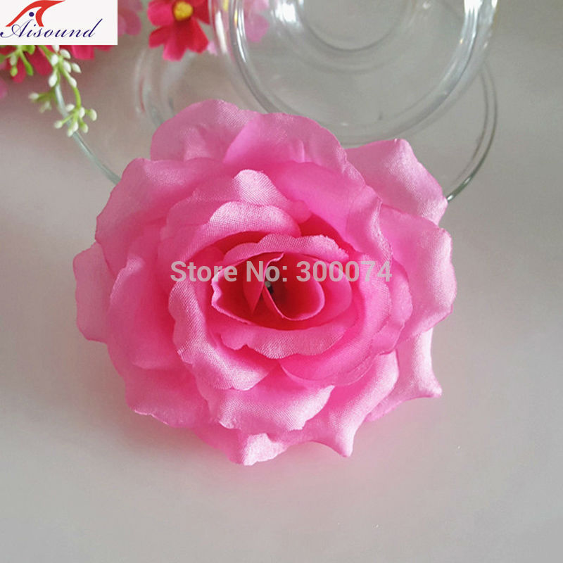 Pink rose head for wreath and arch
