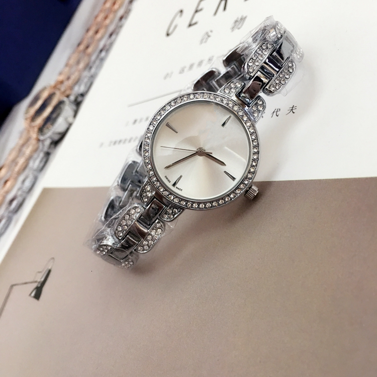 Relojes De Marca Mujer Fashion Quartz Watch Casual Steel Dial Style High Quality Woman Full Crystal Diamond Dress Clock Party Watches