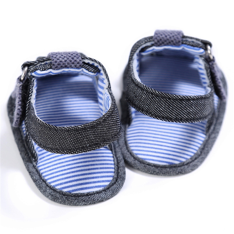 2 Color Summer Fashion Baby Boys Sandals Toddler Infant Kids Baby Boys Canvas Anti-slip Sole Crib Sandals Shoes M8Y02 (6)