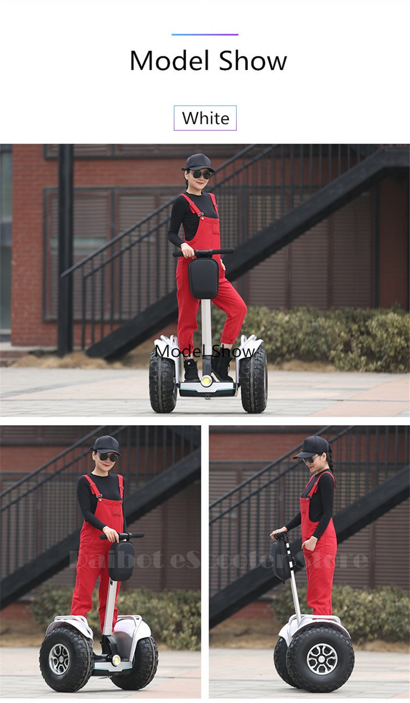 Daibot 2019 New Powerful Electric scooter Two Wheels Double Driver 60V 2400W Off Road Big Tire Adults Hoverboard Scooter (11)