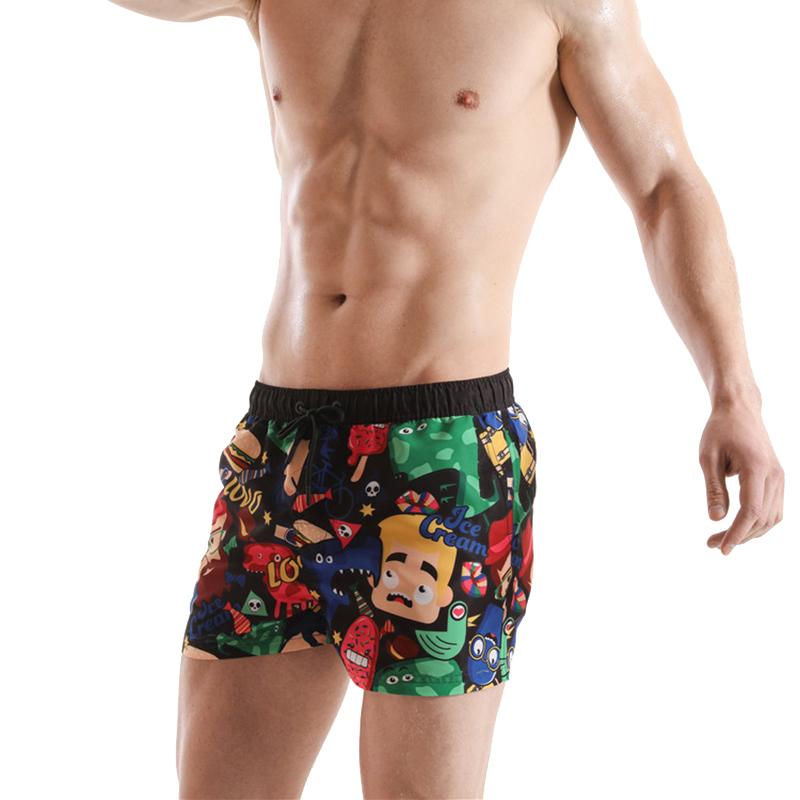 Tup-ac Sha-kur Teens Beach Board Shorts Quick Dry Bathing Suits Swim Trunks Shorts