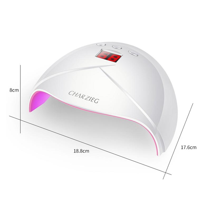 Lampe UV de vernis à ongles de dessiccateur UV de dessiccateur de Manooby 36W LED machine de photothérapie UV de dessiccateur intelligent de cuisson 3 de minuterie