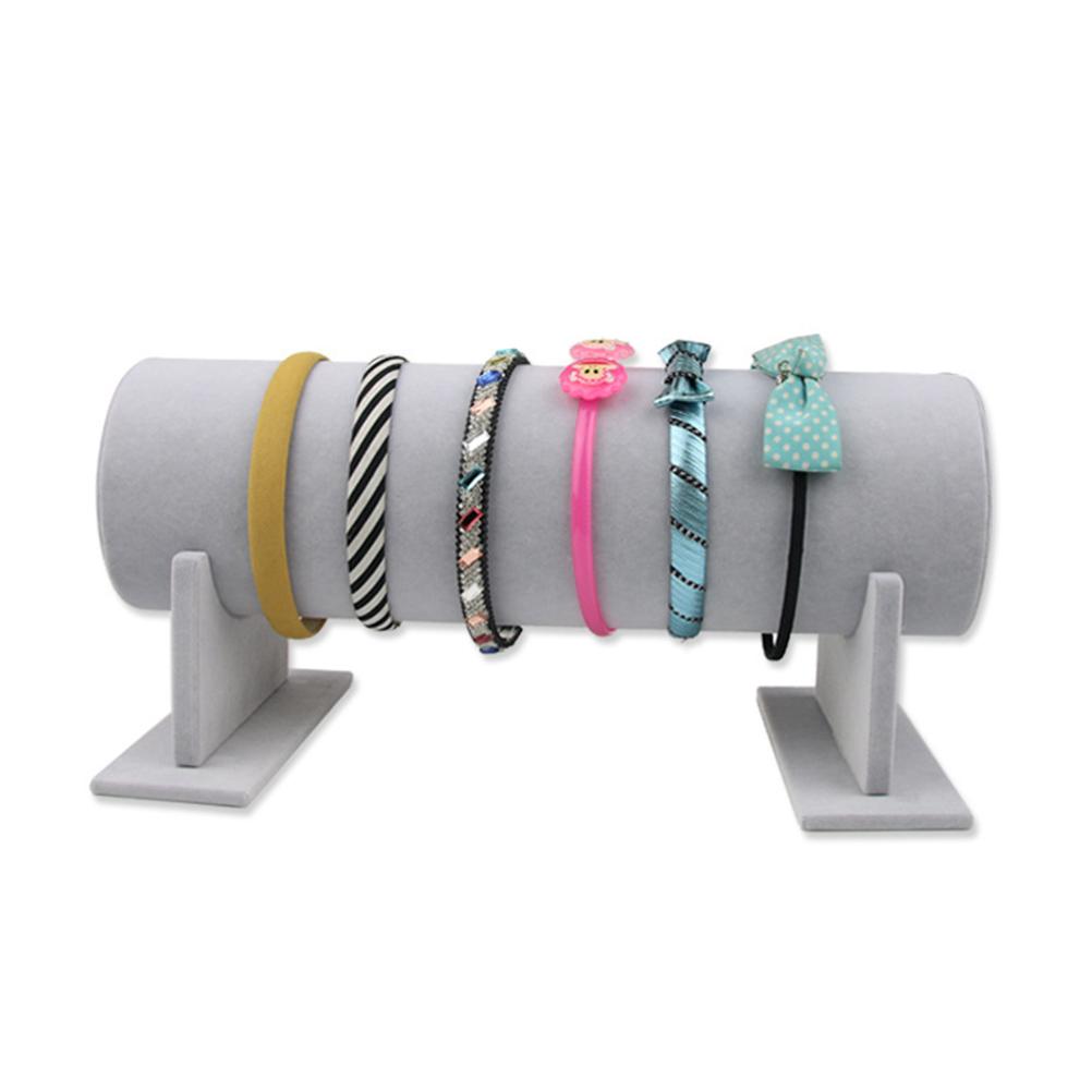 Exibindo Titular Simples Detável Portátil jóias Rack de Banda de Cabelo Stand Titular do Titular do Cartão de Exibição de Jóias Headband Fique