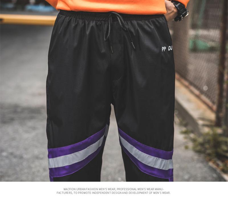 Loose Hip Hop Cargo Pants Men Camouflage Patchwork Harem Mens Trousers Streetwear (64)